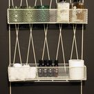 Diamond Wall Shelf With Rail Cream