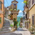 Lazio Photography, Subiaco, Rome, Italy, landscape, village, borgo, historic center, mountains, contryside, italian, town, rural