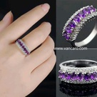 Purple Diamond Rings