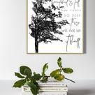 Inspirational Art  Strongest Tree  Instant Download  Black | Etsy
