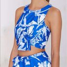 Style stalker cropped top zip back jasmine tank M