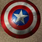 Captain America Shield-Metal Prop Replica, Marvel Captain America Cosplay the Captain Steven Rogers