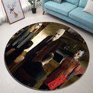 Netflix Movie Strangers  n 3D Customized Personalized Round Carpet Rug