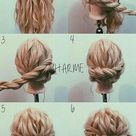 Einfache elegante Hochsteckfrisuren für langes Haar