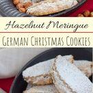 [:de]Haselnusstaschen - die besten Haselnuss Plätzchen [:en]German Hazelnut Cookies with Hazelnut Meringue and Chocolate Chips [:]