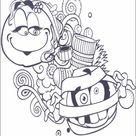Ausmalbilder zum Ausdrucken Emojis - Emoticons 29
