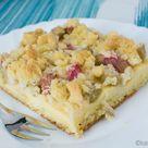 Rhabarberkuchen mit Vanillepudding vom Blech - Katha-kocht!