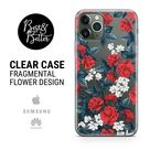 Flowers case Floral Pattern Gift for her Transparent Clear Ruber with hragmental design print for iPhone 13 phone case iPhone 11 iPhone 12