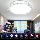 Smart WiFi Deckenleuchte 48W stufenlose dimmbare LED-Leuchten Cloud Intelligence APP Fernbedienung Timing-Funktion Sprachsteuerung Kompatibel mit Amazon alexa / Google Home / IFTTT fš¹r Korridor Gang Treppe Esszimmer Wohnzimmer Wohnzimmer