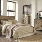 Trinell - Brown - 3 Pc. - Dresser with Fireplace Option, Mirror, Queen Panel Headboard - 3 Pc. - Dresser with Fireplace Option, Mirror, Panel Headboard