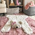 Minky Pink Fawn Pillow and Matching Blanket Set