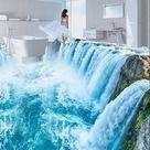 Großhandel Dekoration 3D Wasserfall Wohnzimmer Boden Wandbild Wasserdicht Boden Wandbild Selbstklebende 3D Von Hariold, 26,07 € Auf De.Dhgate.Com | Dhgate