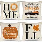 Amazon.com: AENEY Fall Decor Pillow Covers 20x20 inch Set of 4 Truck Pumpkin Leaves Farmhouse Throw Pillows for Fall Harvest Thanksgiving Autumn Fall Decorative Pillows Cushion Cases for Sofa Couch 2048bz20: Bedding & Bath