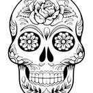 Tattoo Totenkopf mexikanisch Vorlage und attraktive Designideen