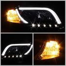 Spyder Audi A4 06 08 Projector Headlights Halogen Only   Light Tube DRL Blk PRO YD AA405 LTDRL G2 BK