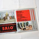 vintage 1976 Salò, 120 Days of Sodom by Pier Paolo Pasolini, original Italian film movie cinema lobby set, fotobusta, Italy seventies cult