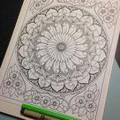 Botanical Mandala #005 FULL PAGE edition Coloring Page
