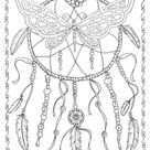 Butterfly Dreamcatcher kleuren pagina Instant Download | Etsy
