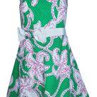 Lilly Pulitzer Dresses | Strapless Euc Short Casual Dress, Green, (Size 4 (S) | Tradesy