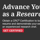 RCA  Certified Research Chef CRC®