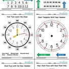 Learn to Tell the Time Clock - Teaching Clock - Free printable PDF