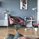Inspiratie: interieurs met een blauwe muur