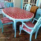 Kitchen Table Makeover DIY Tabletop Idea