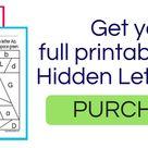 Hidden Letter & Number - Free Printable