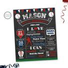 Baseball Birthday Board Poster