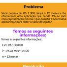 ? Exercícios de juros compostos   Matemática Financeira