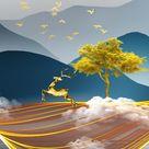 4.86US $ 30% OFF|Moderne Abstrakte Gelb Landschaft Kunst Leinwand Gemälde Wand Kunst Bilder für Wohnzimmer Decor (Kein Rahmen)|Painting & Calligraphy|   - AliExpress