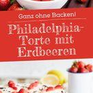 Philadelphia-Torte mit Erdbeeren