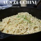 vegane Carbonara aus Zucchini - Rezept - Mangold & Muskat