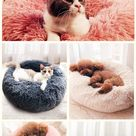 【49% off】 Long Plush Super Soft Pet Round Bed Kennel Dog Cat Comfortable Sleeping Cusion.#pet #petbed #sleepingcusion