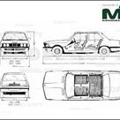 BMW 3 Series E21 1975   Disegno 2D   30156   Model COPY   Italiano