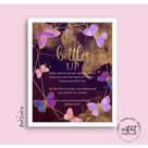 Baby Bottle Chug Baby Shower Sign Drinking Game Girl Butterfly Bottles Up Pink Lilac Purple Gold Decor Online Editable Template Printable P8
