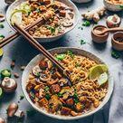 Thai-Erdnuss-Nudelsuppe - Ramen (Vegan)