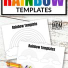Free Printable Rainbow Templates in Large and Small
