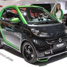Smart ForTwo Brabus Electric Drive is a black and green upgrade