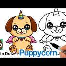 How to Draw a Puppycorn | Doggycorn