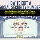 Editable Social Security Card Template Software regarding Ssn Card Template – 11+ Professional Templates Ideas