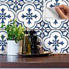 Kitchen bathroom Tile Decals Vinyl Sticker Removable Waterproof :  'ANTIQUE' Dutch BW002