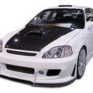 1999-2000 Honda Civic Duraflex B-2 Front Bumper Cover - 1 Piece