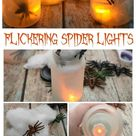 Halloween DIY: Flickering Spider Lights