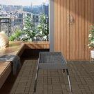 MercartoXL La tuile 22ER Set WPC, revêtement de sol pour une terrasse de café