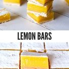 Lemon Bars (simpel recept!) - door Gwenn's Bakery