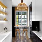 8 Ways to Fit a Seating Area into a Galley Kitchen