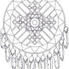Native American Dreamcatcher Mandala - supercoloring.com
