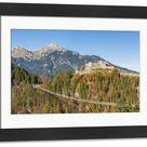 Large Framed Photo. Reutte, Tyrol, Austria, Europe. Ehrenberg
