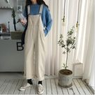 Korean street style casual Ulzzang fashion loose jumpsuit